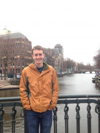 Picture of Mr. Harlane in Amsterdam.